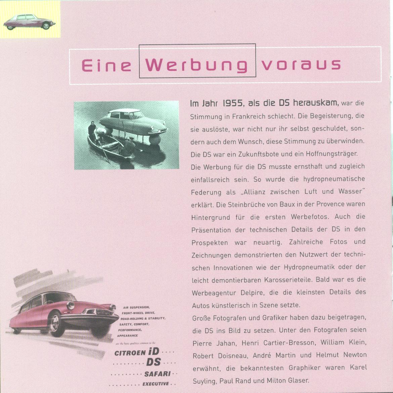 Brochure 50 Jahre Citroën DS